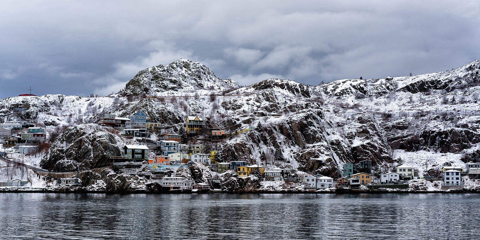 The lower Battery in St. John's after a snowfall