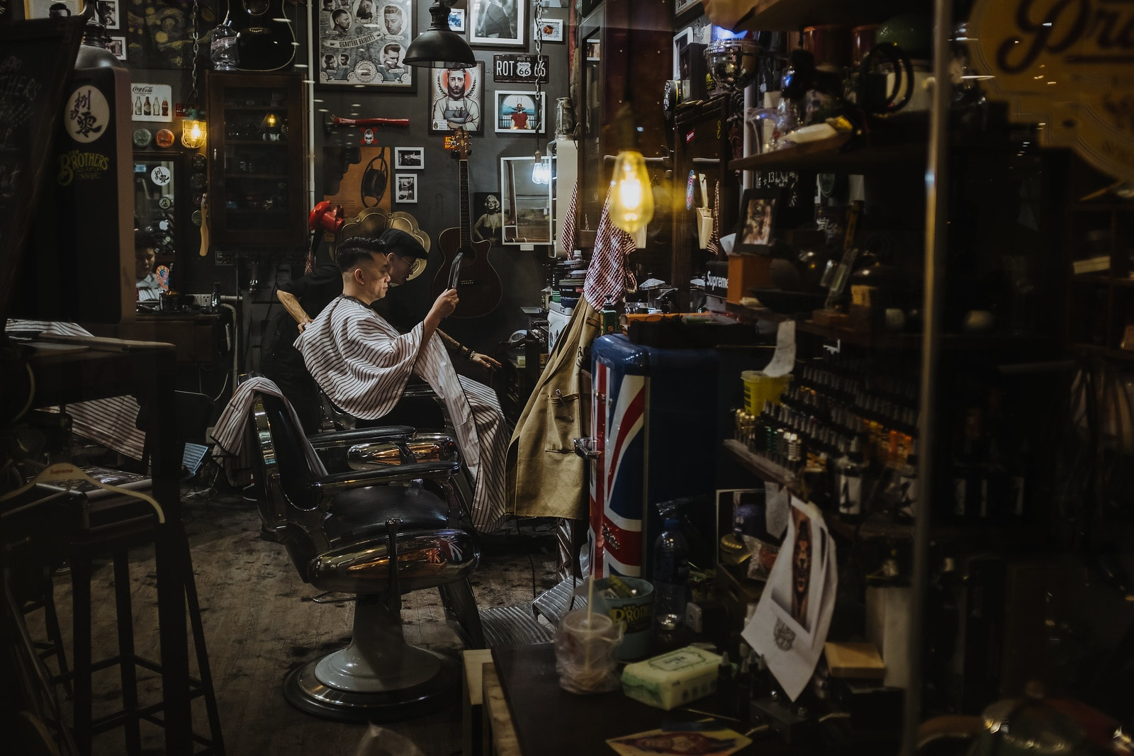 View of a barber shop