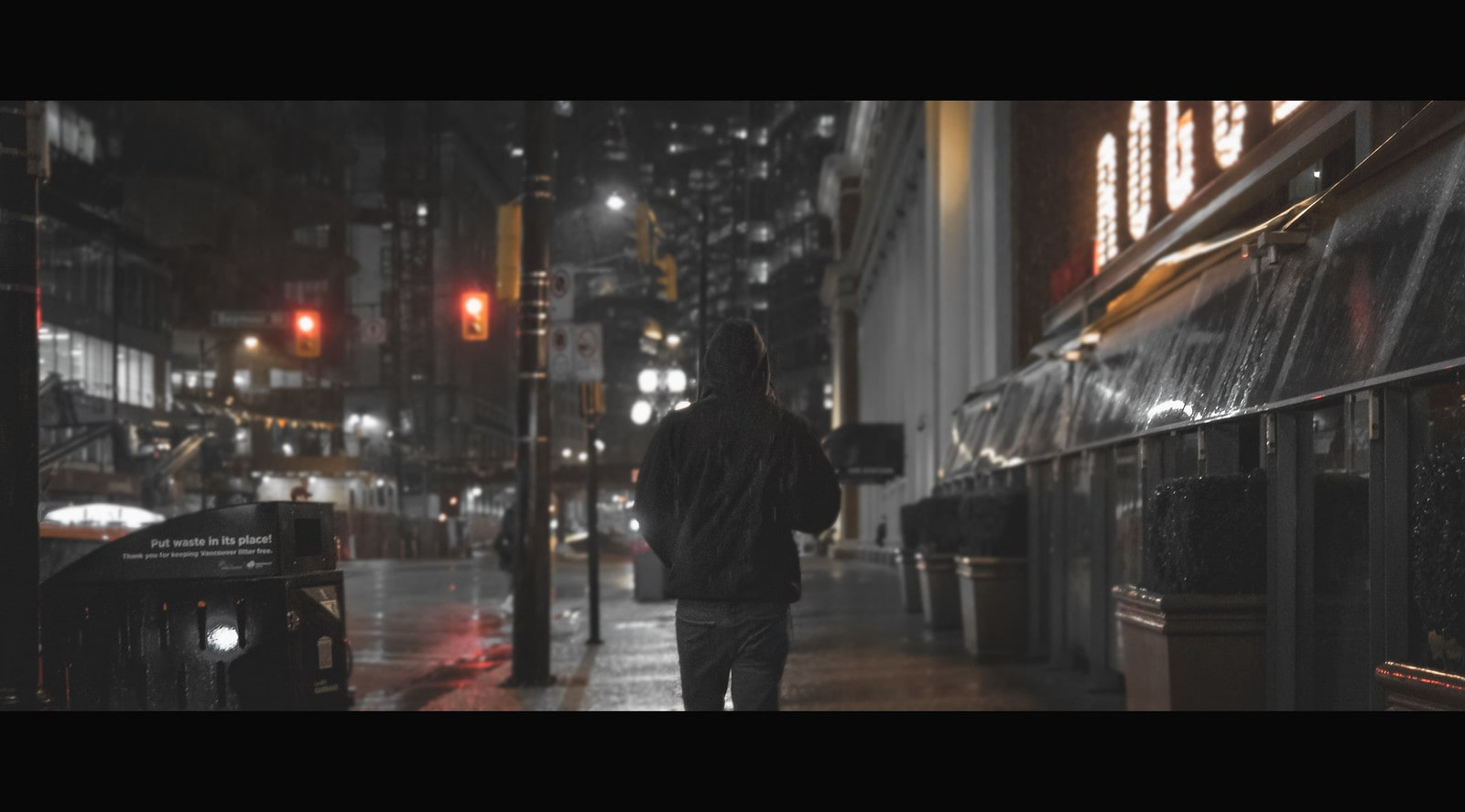 Nighttime stroll in Vancouver