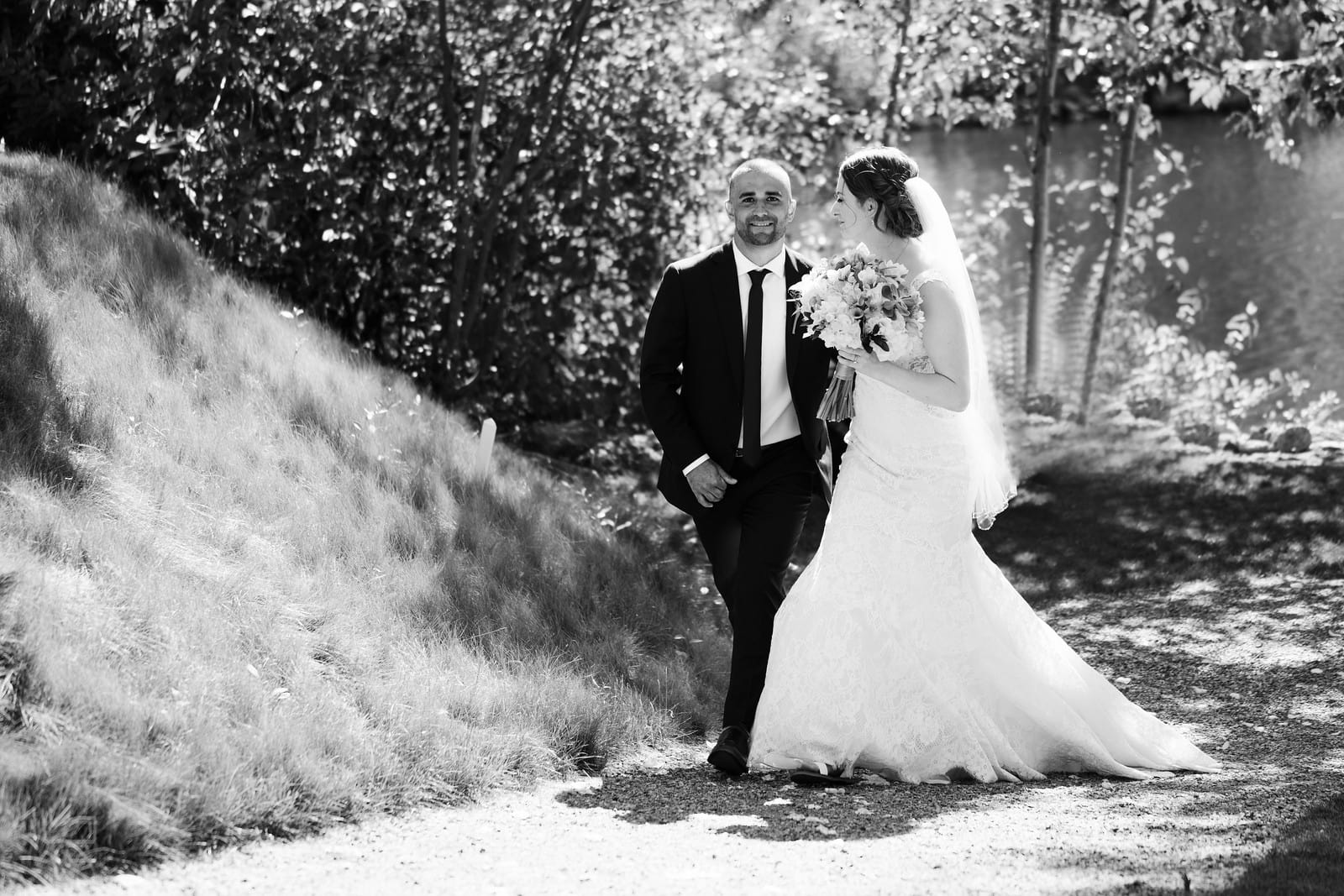 First walk together as married couple